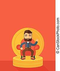Successful businessman - A successful businessman with beard...