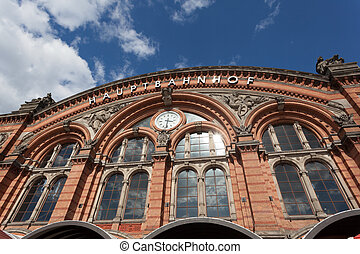 The Main Train Station in Bremen, Germany
