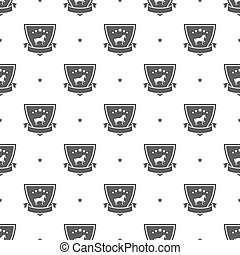 horse logo pattern - Seamless pattern with horse logo sport...