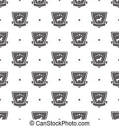 horse logo pattern - Seamless pattern with horse logo sport...