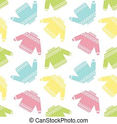colorful sweaters pattern - Seamless pattern with colorful...