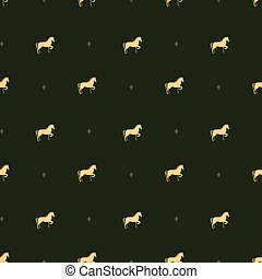 horse pattern - Seamless pattern with a horse vector...