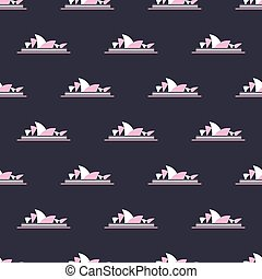 Sydney Opera House pattern - Seamless pattern with Sydney...