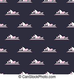 Sydney Opera House pattern - Seamless pattern with Sydney...