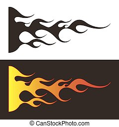 Car tattoo1 - Tribal flames illustration for car decal or...