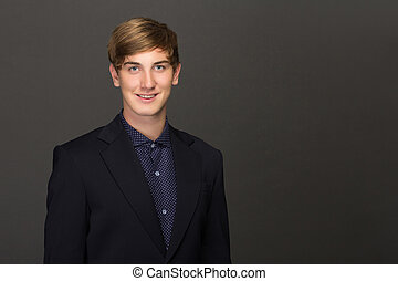 young business man portrait - Portrait of a successful young...