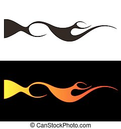Car tattoo3 - Tribal flames illustration for car decal or...