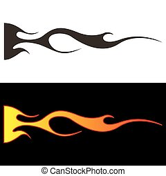 Car tattoo6 - Tribal flames illustration for car decal or...