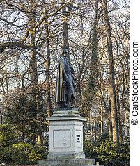 standbeeld, van, Friedrich, Von, SChiller, op, de,...