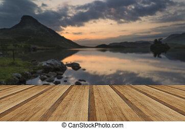 Stunning mountain and lake sunrise reflections beautiful...