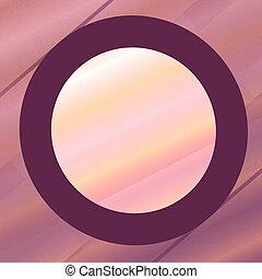 Unique Purple Pink Frame.