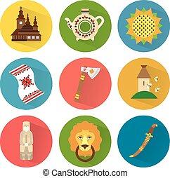 Ukraine Vector Icons Set 2