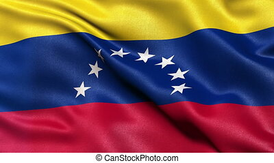 Flag of Venezuela seamless loop - Flag of Venezuela waving...