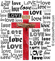 cross - A cross with names of love