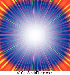 Rays Background - Abstract Colorful Rays Background. Blue...