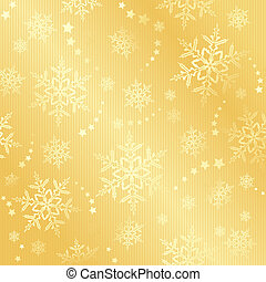Golden snow flake winter pattern - Abstract golden pattern...