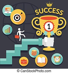 Business, Stairway to Success