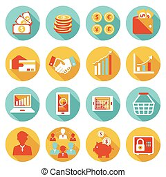 Business and E Commerce Icons Set - Business Marketing...