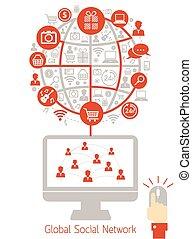 Computer Monitor, Social Network