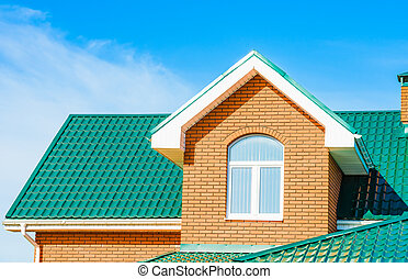 house with a gable roof window - gable roof private...