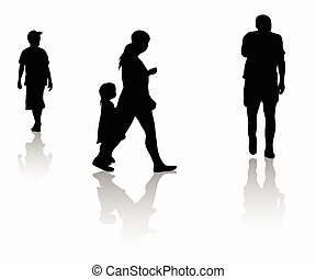 People outdoors silhouettes
