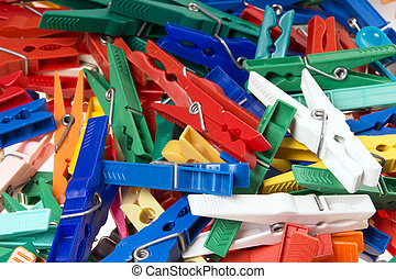clothespins - a lot of colorful clothespins