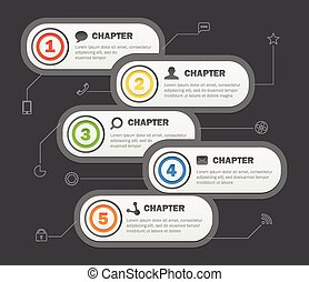 Infographics banners design with icons. Vector template for a co
