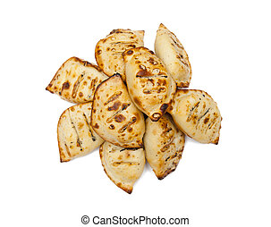 Dumplings isolated on the white background