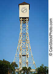 clock tower of Gustave Eiffel in the park of Monte Cris -...