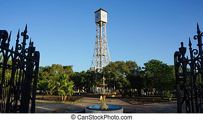 lock tower of Gustave Eiffel in the park of Monte Cris -...