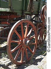 Vintage - Wooden Wagon Wheel