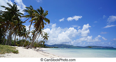 Beach view at Las Galeras on peninsula of Samaná - Romantic...