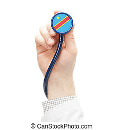 Stethoscope with flag series - Congo-Kinshasa - Stethoscope...