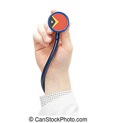 Stethoscope with flag series - East Timor - Stethoscope with...