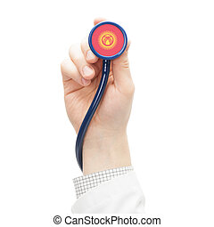 Stethoscope with flag series - Kyrgyzstan - Stethoscope with...
