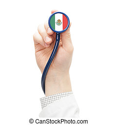 Stethoscope with flag series - Mexico