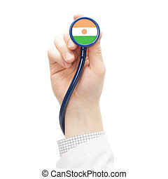 Stethoscope with flag series - Niger - Stethoscope with flag...