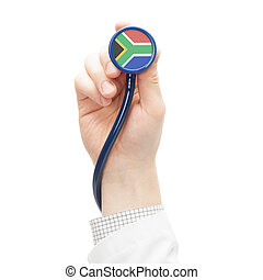 Stethoscope with flag series - South Africa - Stethoscope...