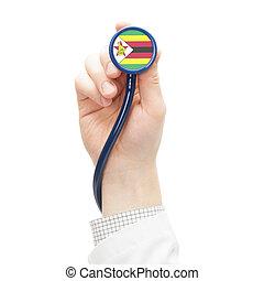 Stethoscope with flag series - Zimbabwe - Stethoscope with...