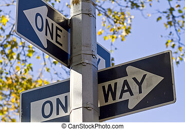 One way - Each way is a one way