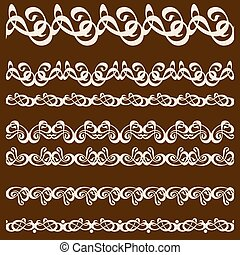calligraphy ornament frame set-02.eps