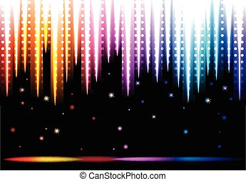 Disco colorful background - Abstract glowing disco...