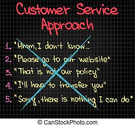 Customer Service approach