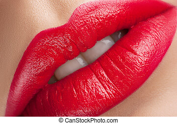 beautiful red lips classics - Beautiful juicy saturated...