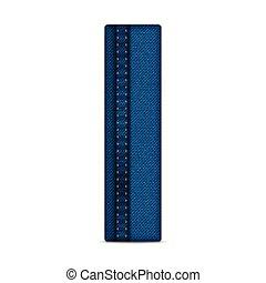 Alphabet Blue Jeans Letter - Vector - Alphabet Blue Jeans...