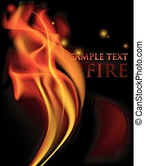 Vector fire flames - Vector background with beautiful vector...