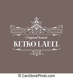 Art Deco Style Elegant Monogram - Retro Frame - in vector