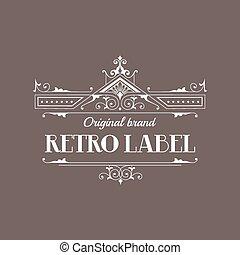 Art Deco Style Elegant Monogram - Retro Frame - in vector