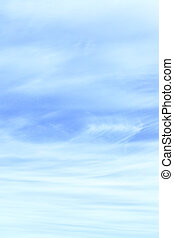 Light blue sky with cirrus clouds, may be used as background
