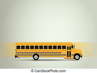 school bus - illustration of yellow school bus